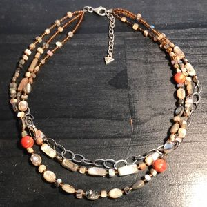 Silpada N1563 necklace coral abalone mop